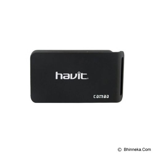 HAVIT Card Reader 6 Slot + 2 USB Port [HV-C11] - Black - Memory Card Reader External